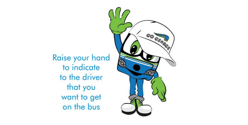 Rise your hand to get on the bus