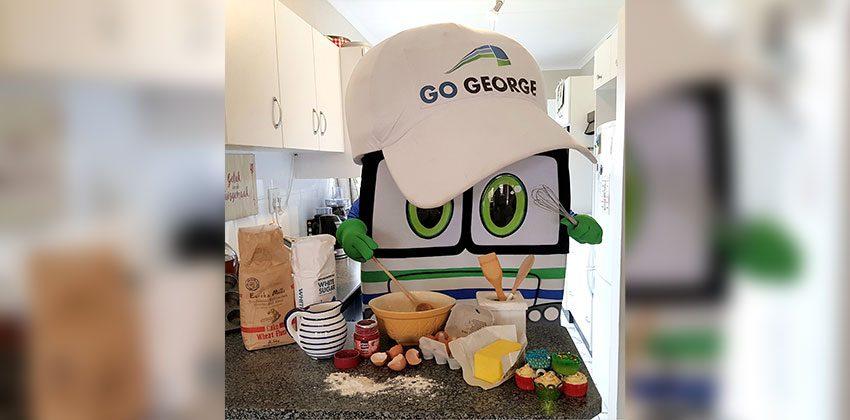 Georgie bakes cupcakes