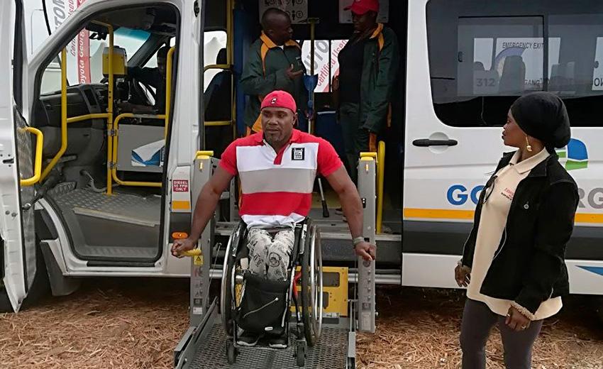 OCC athletes test minibus hoist