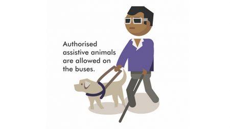 Assistive animal graphic