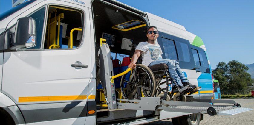 Wheelchair on hoist
