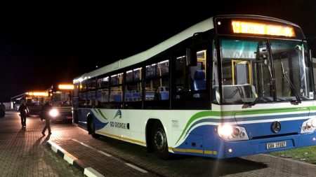 GO GEORGE buses leaving depot