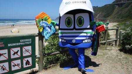 Georgie at the beach