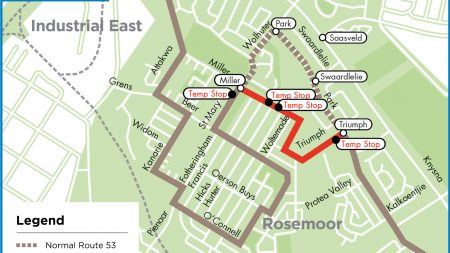 GO GEORGE Rerouting of Route 53 Map ENG