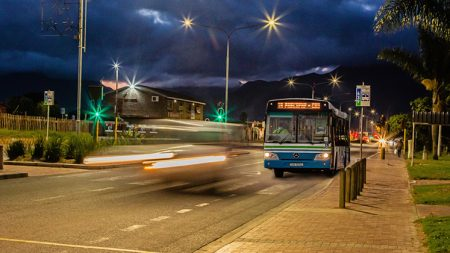 Evening buses
