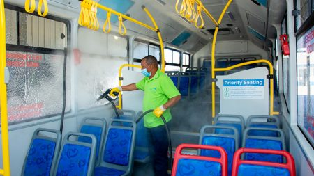 Bus cleaning