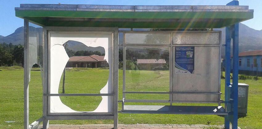 Vandalism of shelters